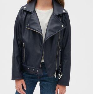 NWT Gap Kids Faux Leather Biker Jacket S (6-7)
